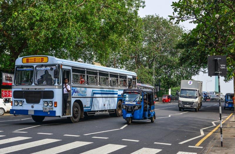 Via di Colombo, Sri Lanka immagini stock