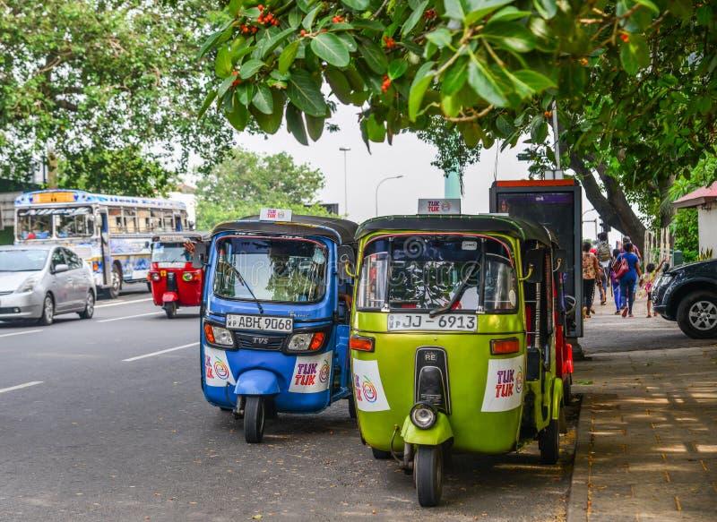 Via di Colombo, Sri Lanka fotografia stock