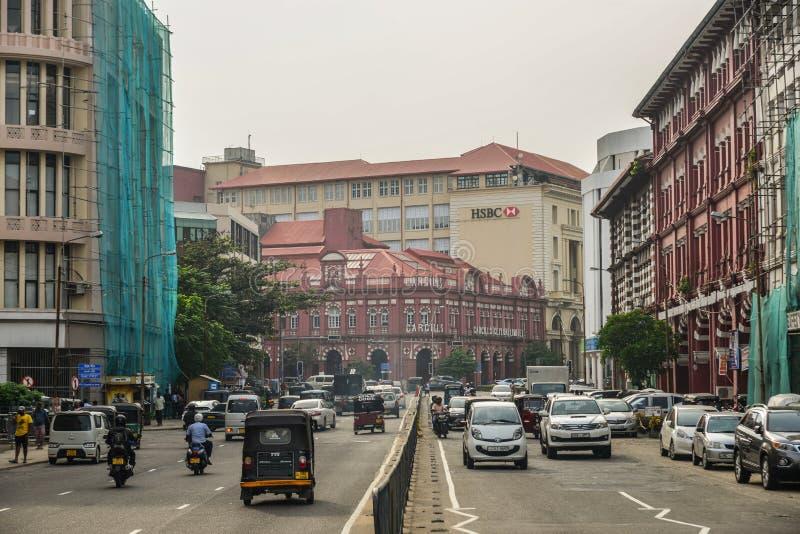 Via di Colombo, Sri Lanka fotografie stock libere da diritti