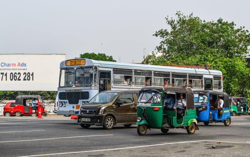 Via di Colombo, Sri Lanka fotografie stock