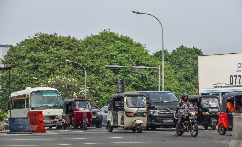 Via di Colombo, Sri Lanka immagine stock libera da diritti