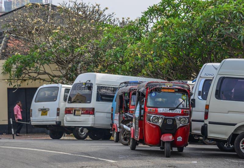 Via di Colombo, Sri Lanka immagini stock libere da diritti