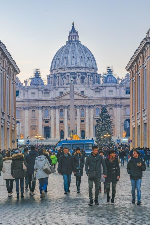 Via di Conciliazione, Roma, Italia fotografia stock libera da diritti