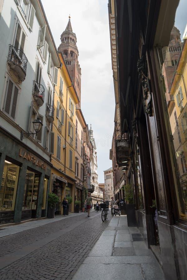 Via di Cremona, regione della Lombardia, Italia fotografia stock libera da diritti
