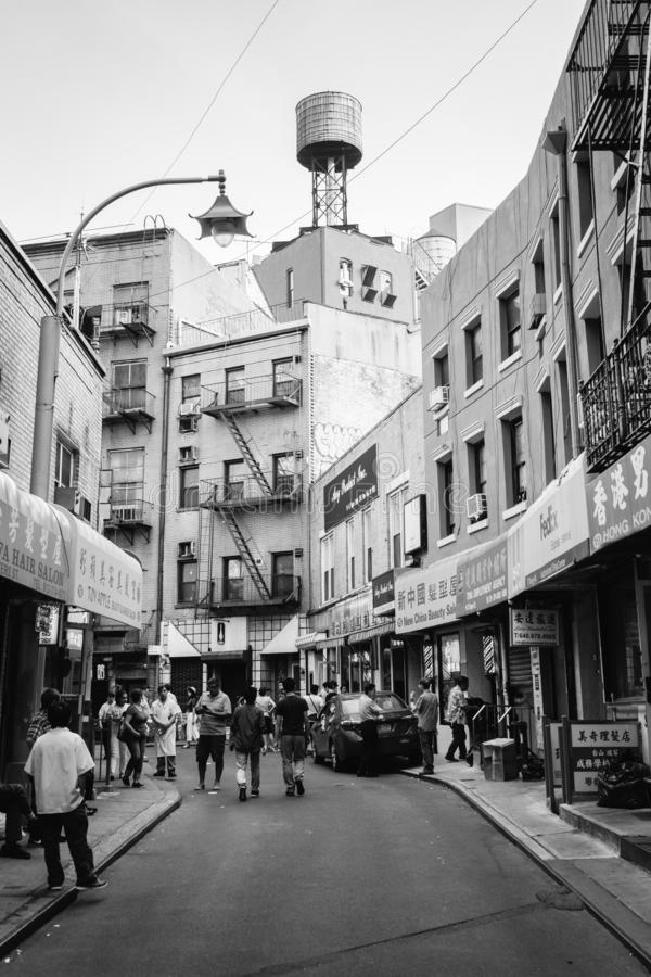 Via di Doyers, in Chinatown, Manhattan, New York immagine stock