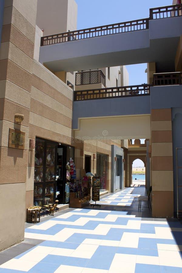 Via di Ghalib International Marina Red Sea Egitto del porto fotografia stock libera da diritti