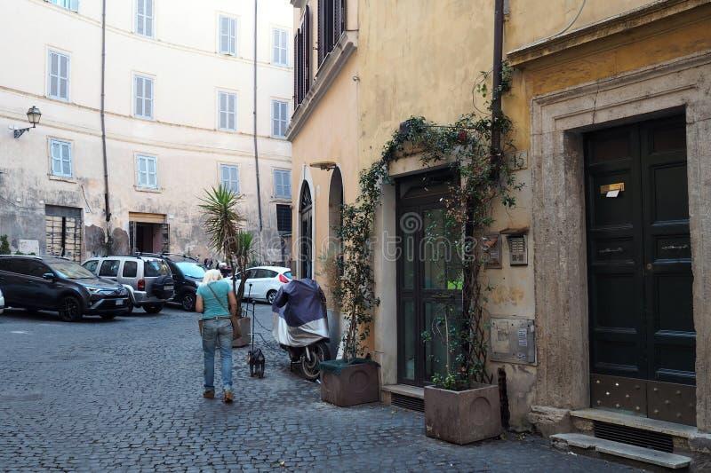 Via Di Grotta Pinta in Rome, Italië royalty-vrije stock afbeeldingen