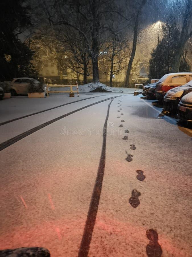 Via di inverno immagine stock libera da diritti