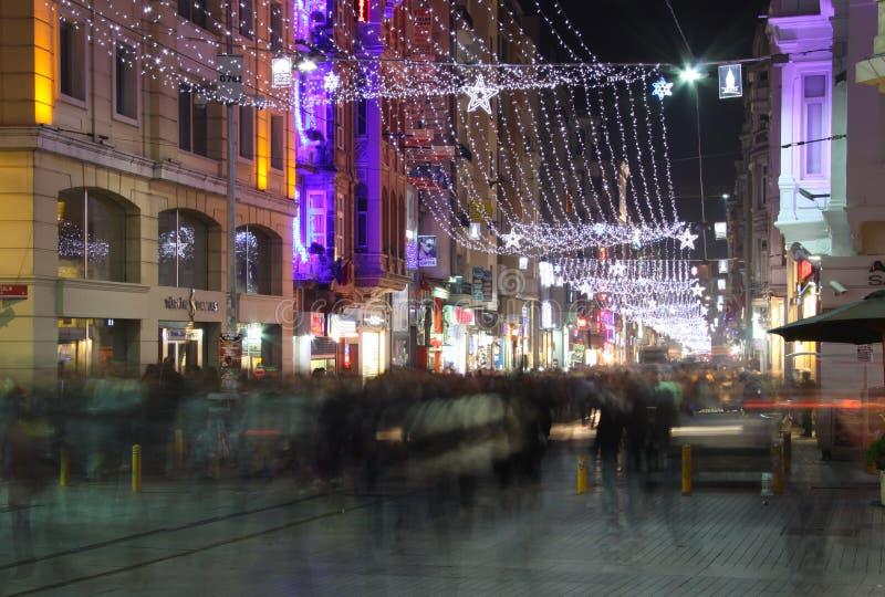 Via di Istiklal immagini stock libere da diritti