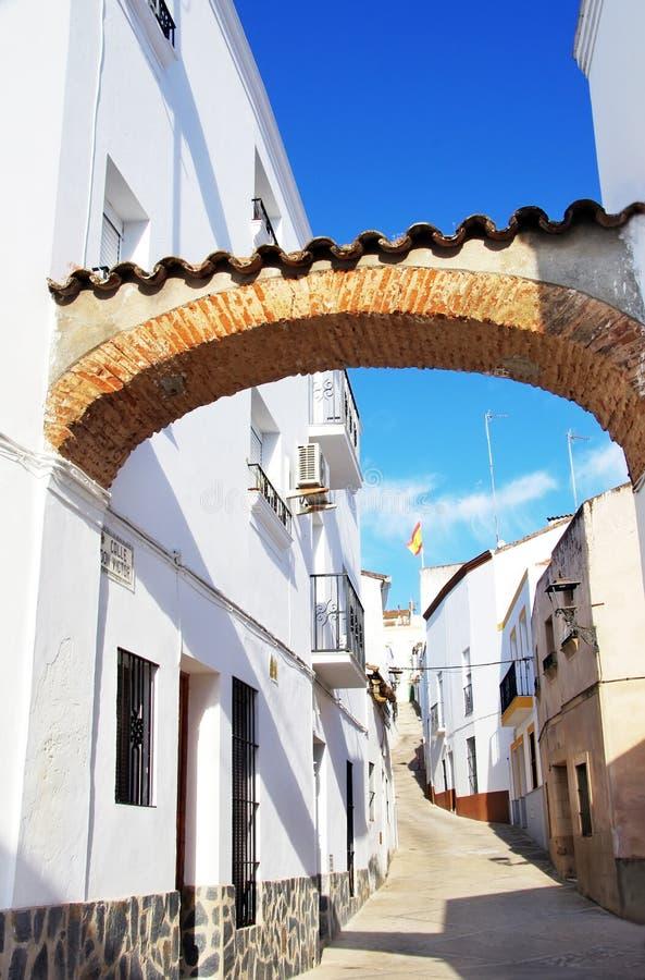 Via di Jerez de los Caballeros fotografia stock libera da diritti