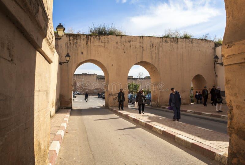 Via di Meknes, Marocco fotografie stock libere da diritti