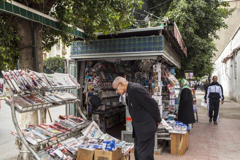 Via di Meknes, Marocco immagini stock