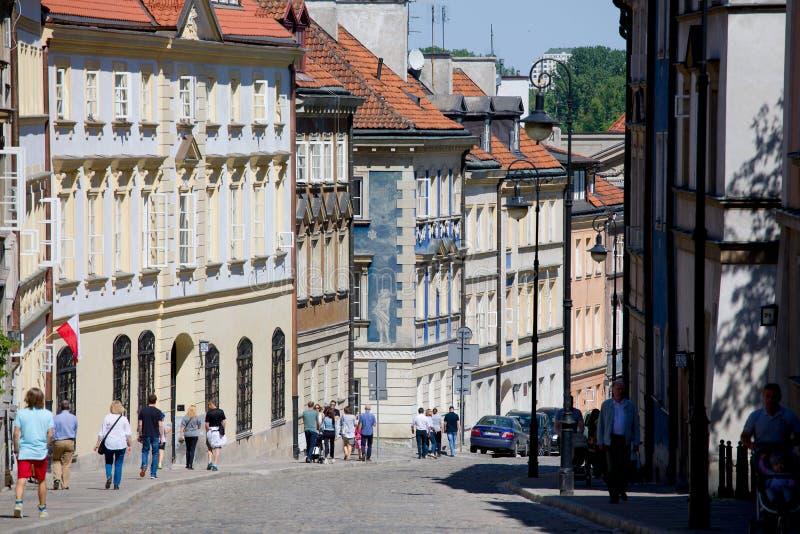 Via di Mostowa a Varsavia fotografia stock
