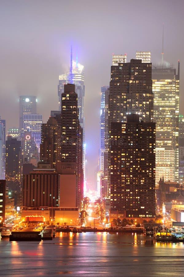 Via di New York City Manhattan quarantaduesimo fotografie stock libere da diritti