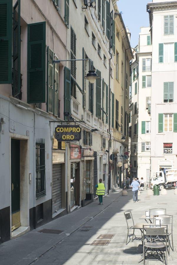 Via Di Porta Soprana, Genua stock foto's