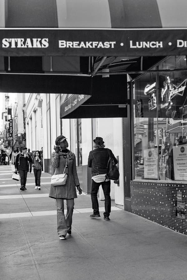 Via di Powell, San Francisco, Stati Uniti fotografie stock libere da diritti