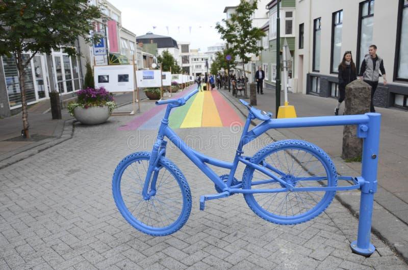 Via di Reykjavik immagini stock libere da diritti