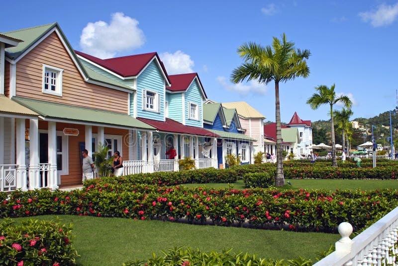 Via di Samana, Repubblica dominicana, caraibica fotografie stock
