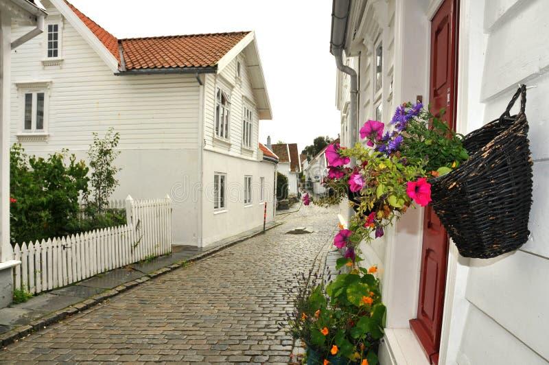 Via di Stavanger immagini stock libere da diritti