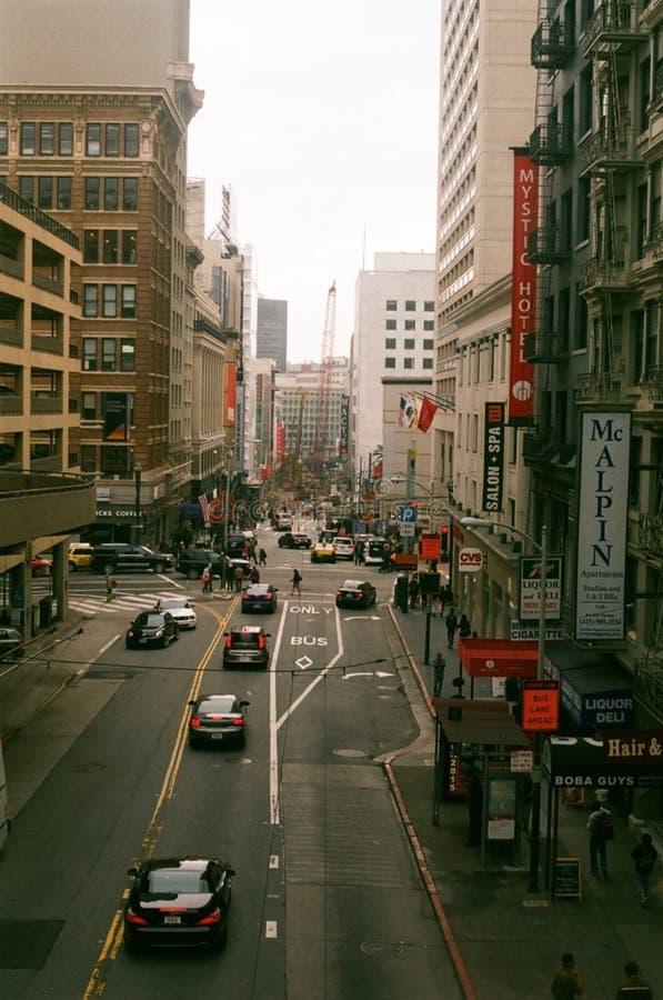 Via di Stockton, San Francisco immagine stock