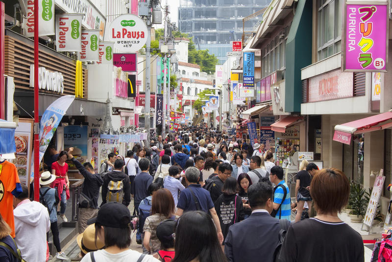 Via di Takeshita fotografie stock