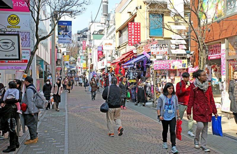 Via di Takeshita in Harajuku, Tokyo, Giappone fotografia stock