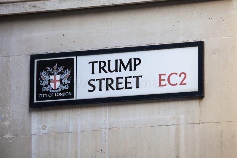 Via di Trump nella città di Londra fotografia stock