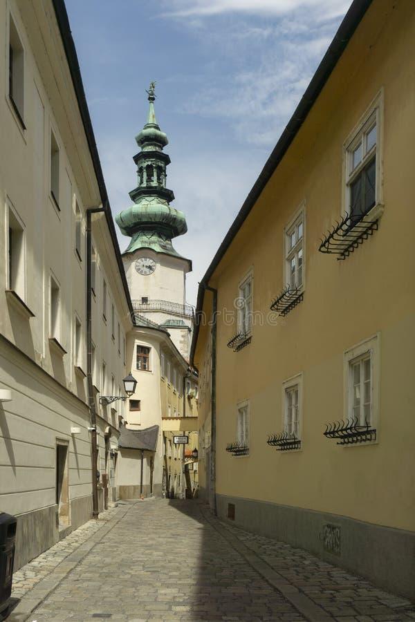 Via di ulica di Bastova a Bratislava fotografia stock