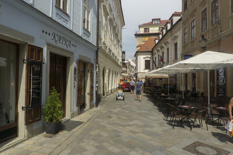 Via di ulica di Panska a Bratislava immagine stock libera da diritti