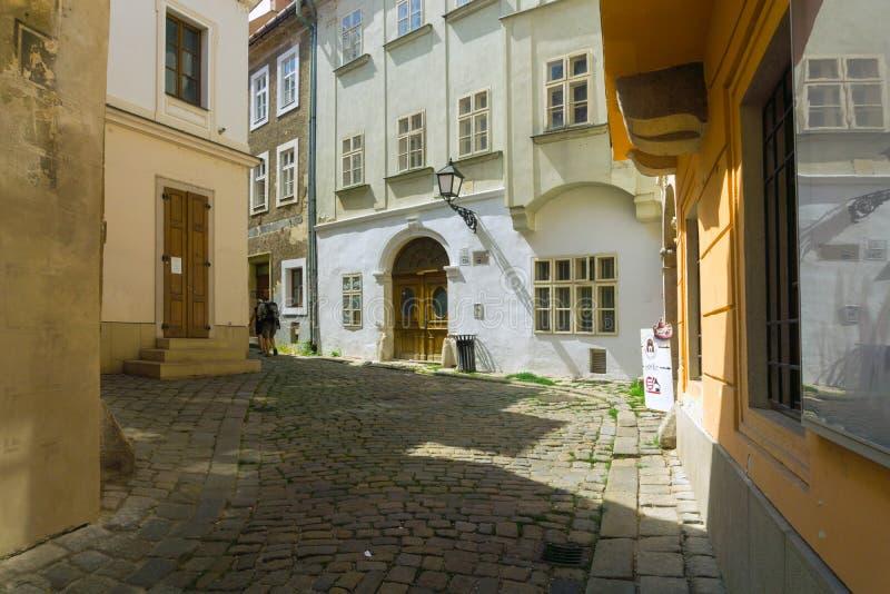 Via di ulica di Zamocnicka a Bratislava fotografie stock libere da diritti