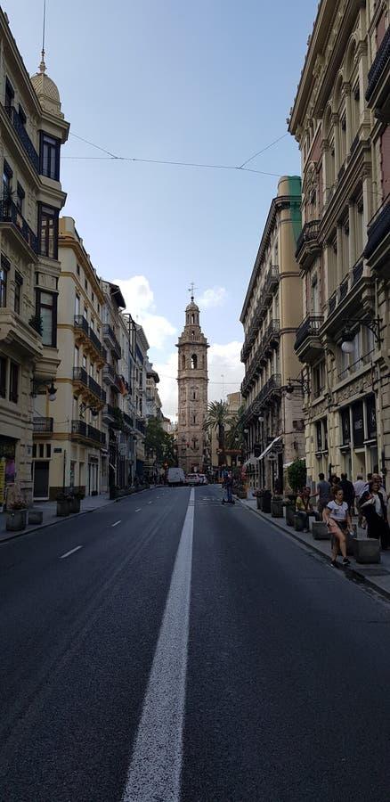 Via di Valencia fotografie stock libere da diritti