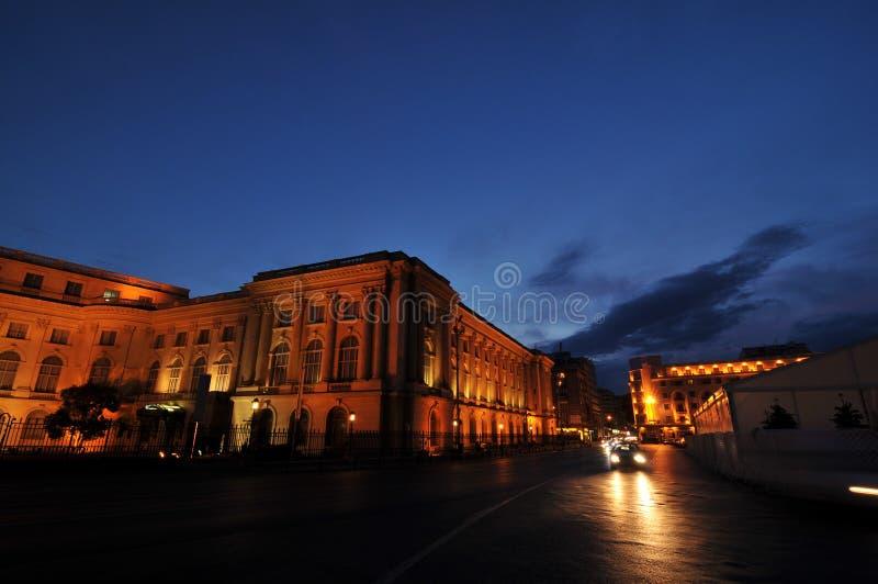Via di Victoriei a Bucarest immagine stock