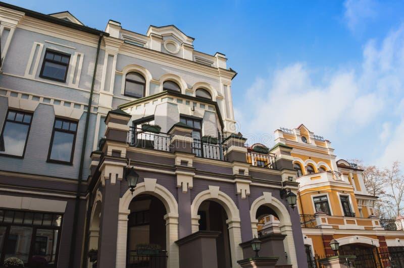 Via di Vozdvyzhenska, Kyiv fotografia stock libera da diritti