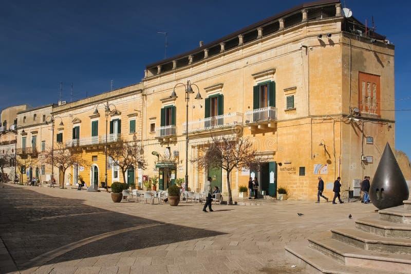 Via Domenico Ridola. Matera. Basilicata. Apulia or Puglia. Italy stock photo