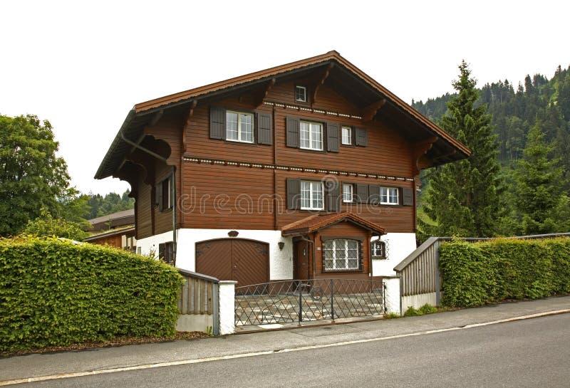 Via e casa a Engelberg switzerland fotografia stock libera da diritti