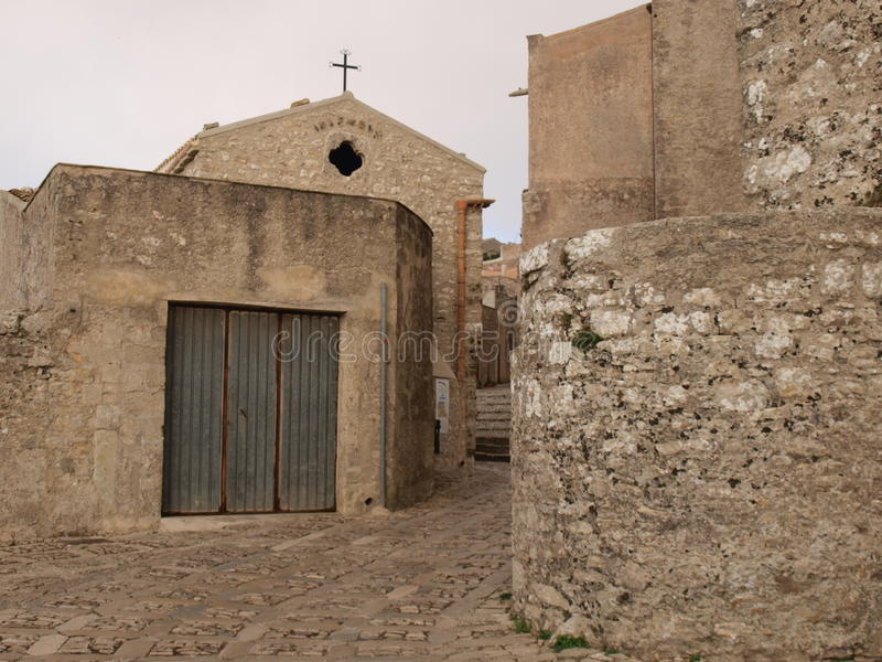 Via in Erice fotografia stock