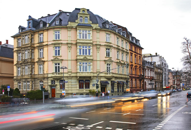Via a Francoforte sul Meno germany fotografia stock