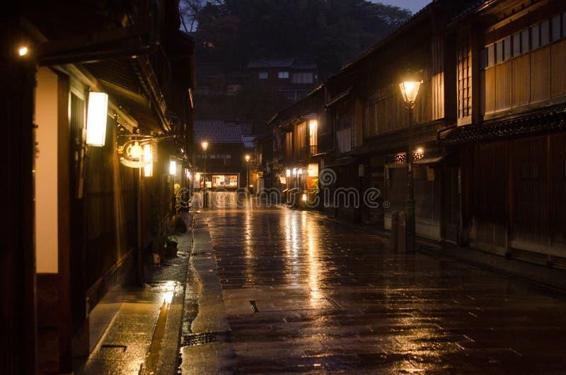 Via giapponese tradizionale fotografia stock libera da diritti