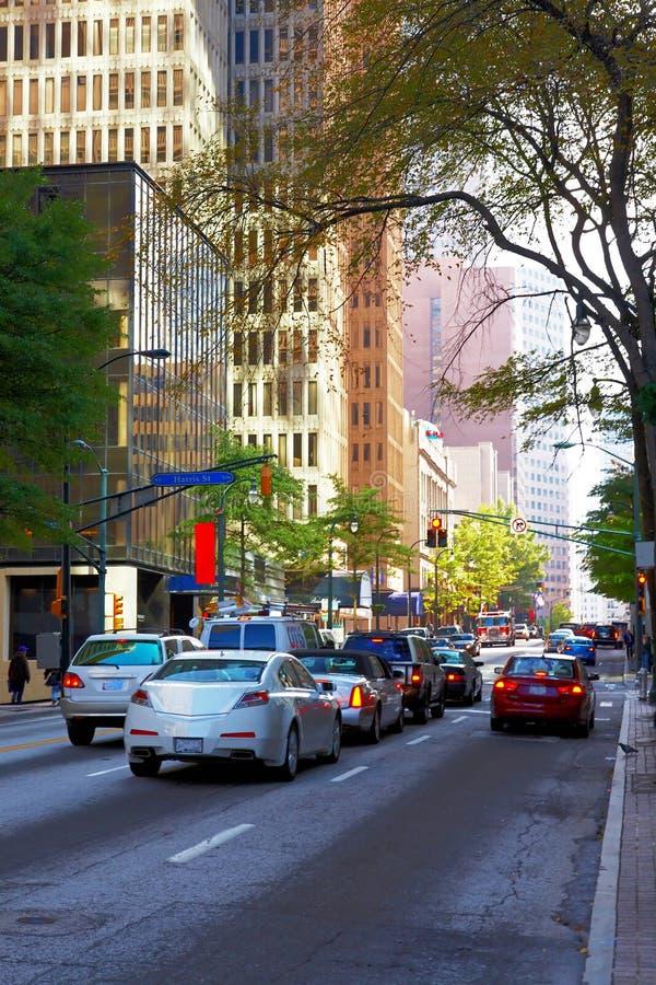 Via in grande città. Atlanta, GA. immagine stock