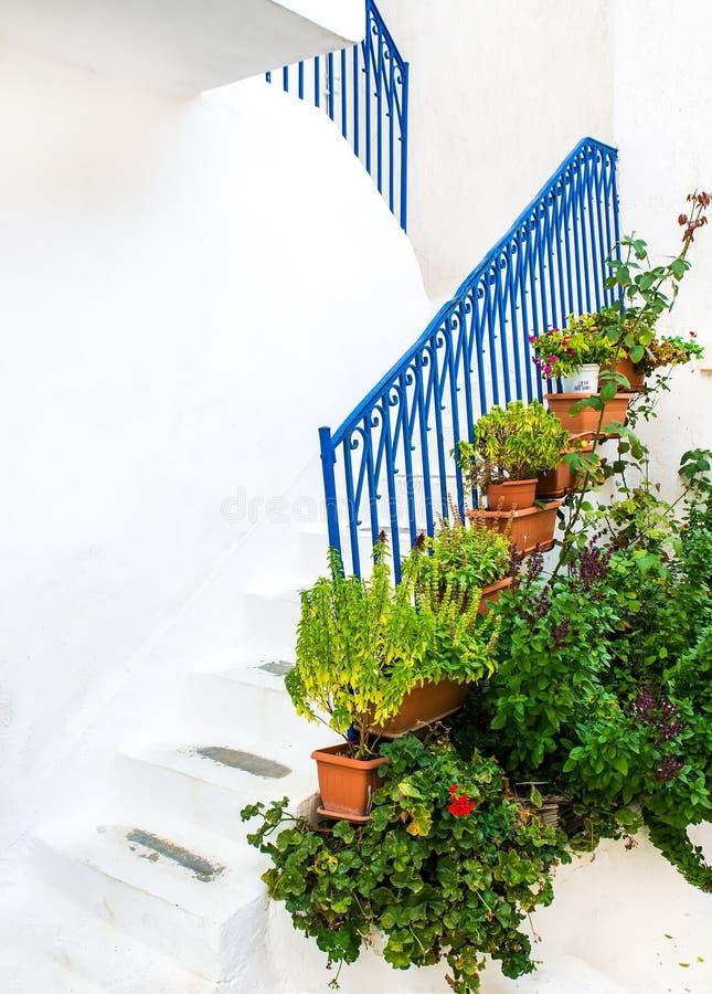 Via greca dell'isola fotografie stock