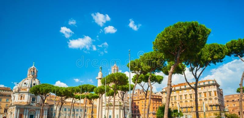 Via il dei Fori Imperiali, Roma fotografia stock libera da diritti