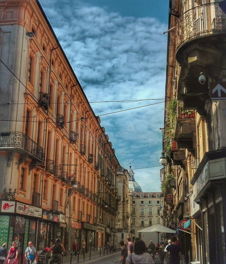 Via italiana - Torino fotografia stock libera da diritti