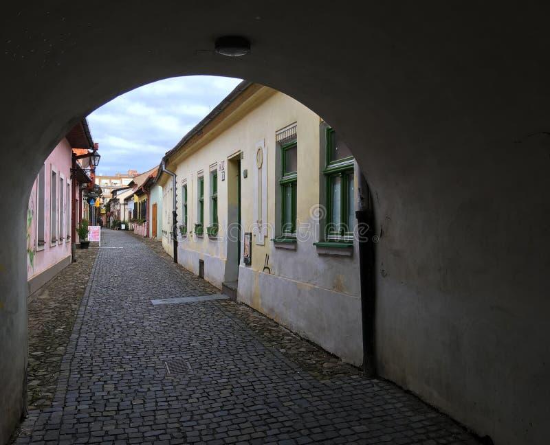 Via a Kosice, Slovacchia fotografie stock libere da diritti
