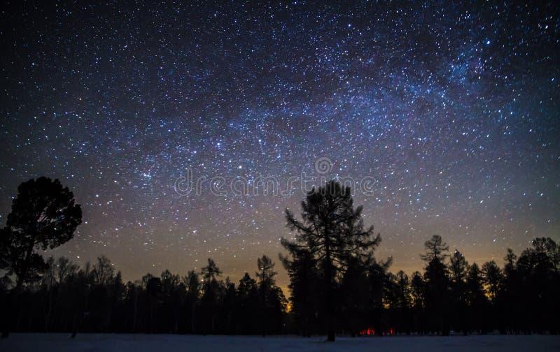 Via Láctea fotografia de stock