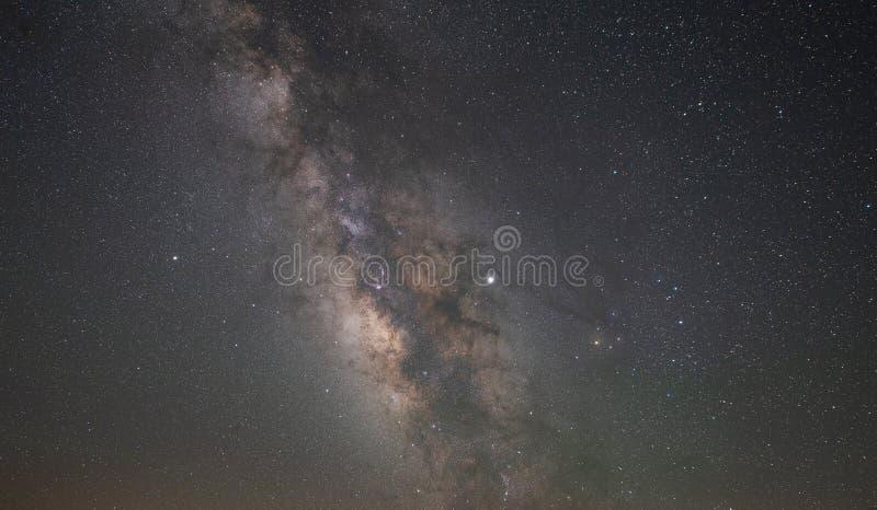 Via Látea e estrelas imagens de stock royalty free