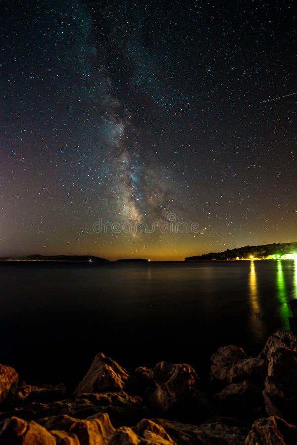 Via Látea no céu da Croácia imagens de stock royalty free
