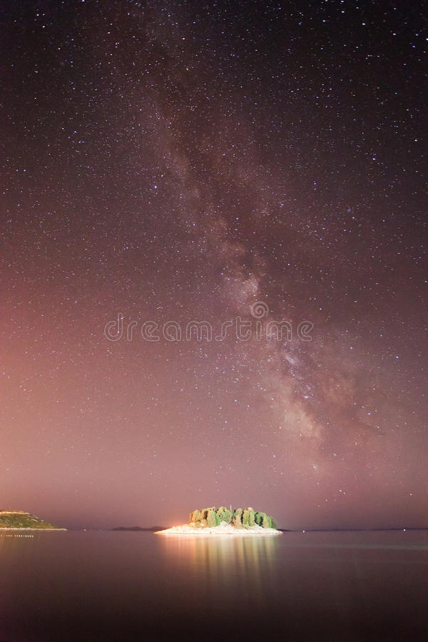 Via Látea sobre a ilha fotos de stock