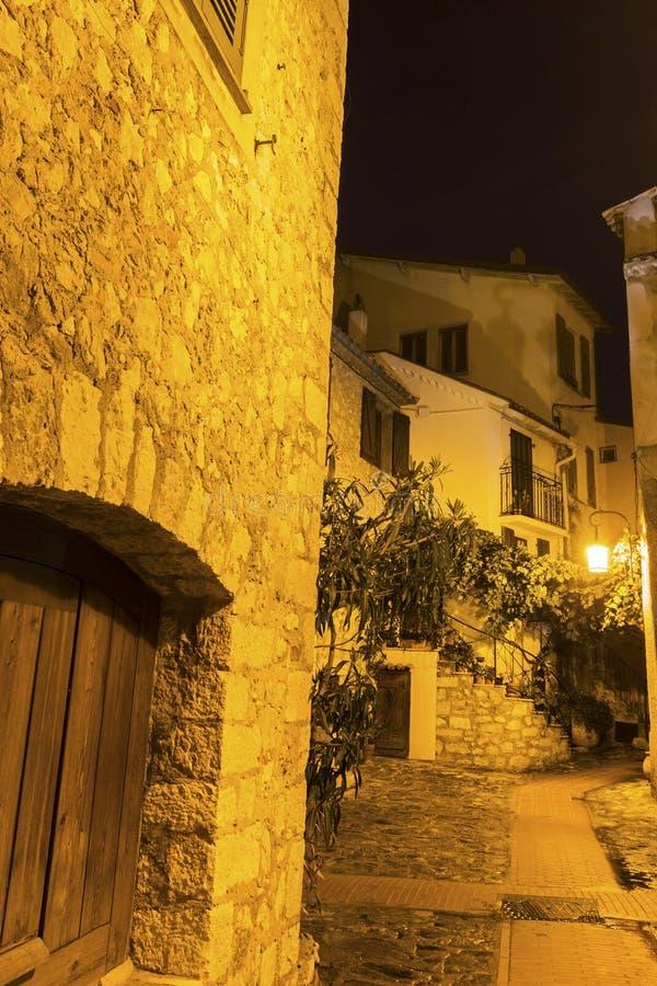 Via in La Turbie in Francia immagini stock