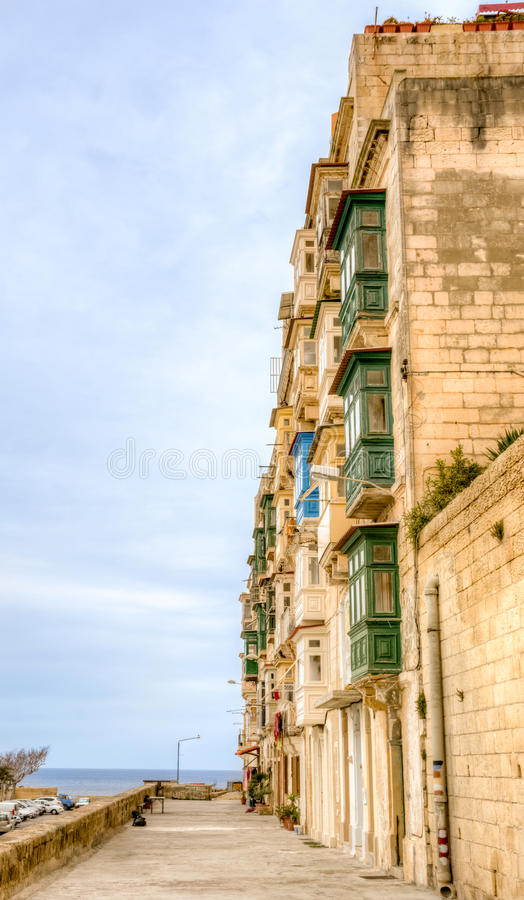 Via a La Valletta Malta immagine stock