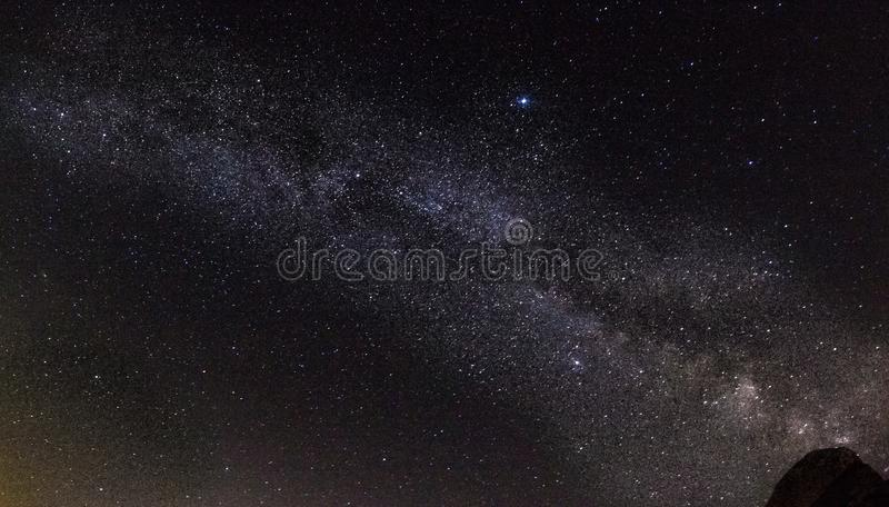 Via Lattea fotografie stock